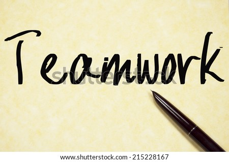 teamwork word write on paper  - stock photo