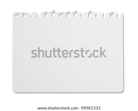 tear note paper from ring binder - stock photo