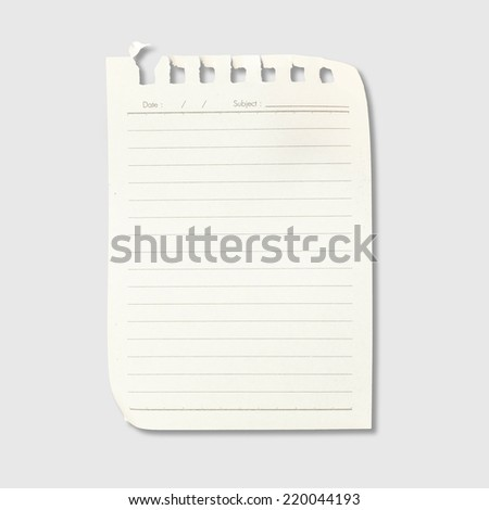 Tear paper isolated with reflect - stock photo