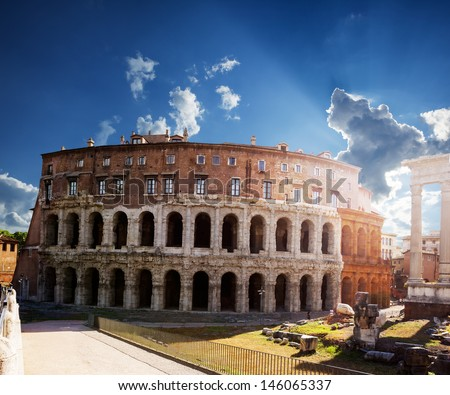 Teatro di Marcello. Theatre of Marcellus. Rome. Italy. - stock photo