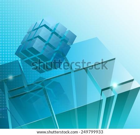 Tech business design illustration - stock photo