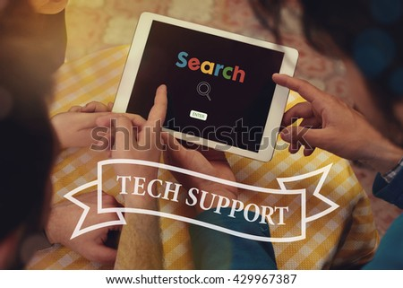 Tech Support - stock photo