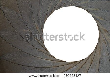 Technical detail of the old aperture - stock photo