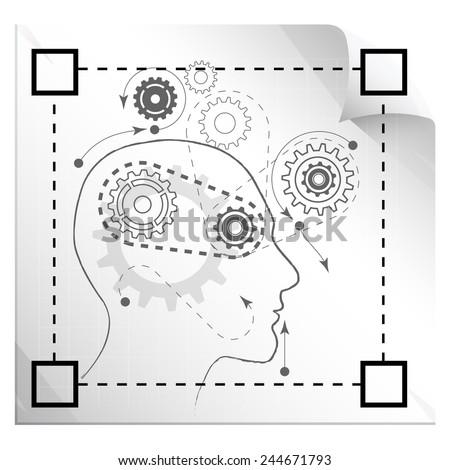 Technical Thinking - Illustration - stock photo