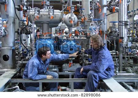 Technicians - stock photo
