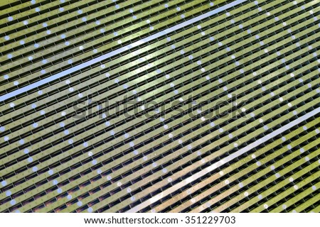 Technogenic background - active electronically scanned array front-view x-range - stock photo