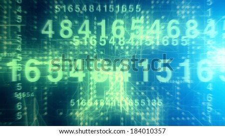 Technological Numbers - stock photo