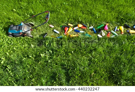 Technology and its effects on the environment - the dangers of development - stock photo