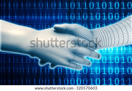Technology and Science Evolution in the Digital Age - stock photo