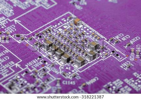 Technology background. Shallow DOF. - stock photo