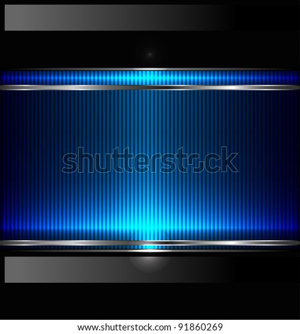 Technology background with metallic banner. JPG version - stock photo