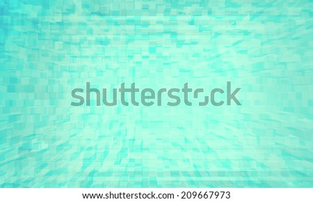 Technology blue squares background - stock photo