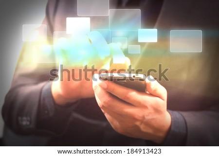 technology communication. - stock photo