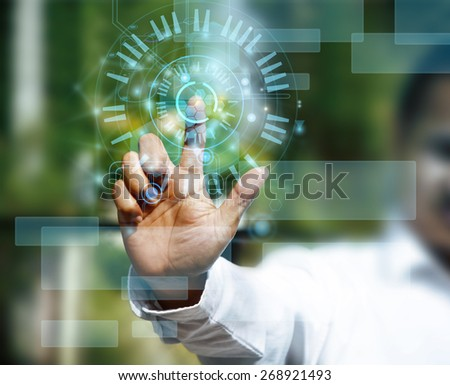 technology concept. - stock photo
