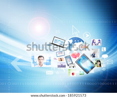 Technology Concept Background - stock photo