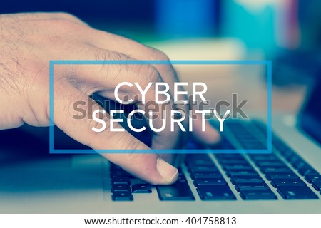 Technology Concept: CYBER SECURITY - stock photo