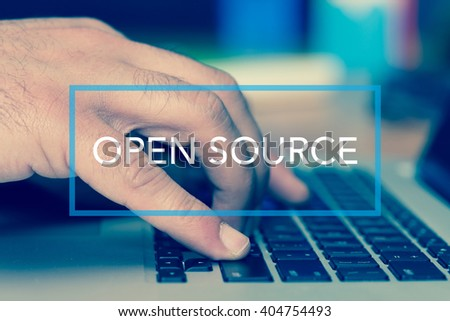 Technology Concept: OPEN SOURCE - stock photo