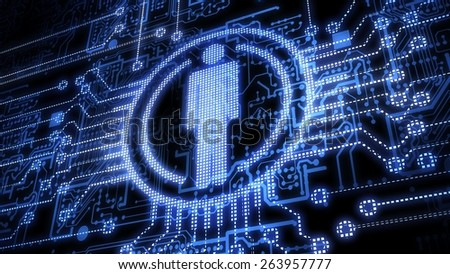Technology. 3D. Social - stock photo