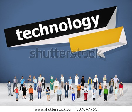 Technology Digital Modern Development Concept - stock photo