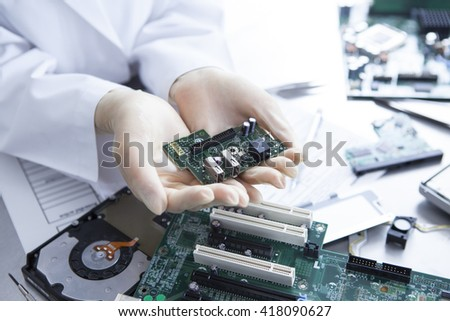 Technology made by small parts. - stock photo