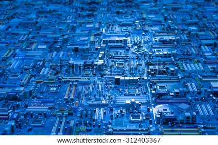 technology mainboard computer science background  - stock photo