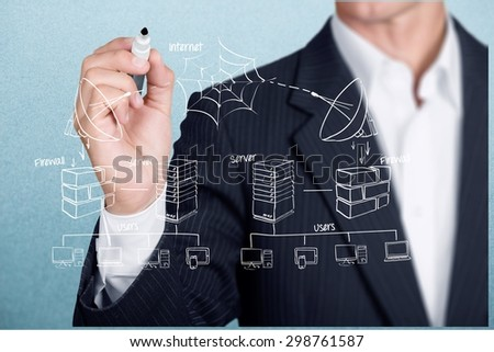 Technology, Network Server, Computer Network. - stock photo