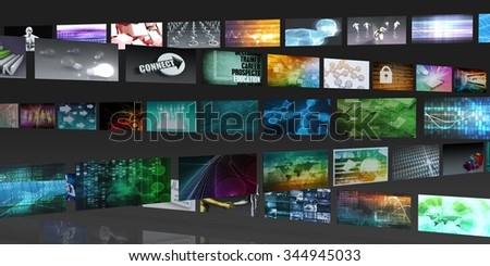 Technology Network System Connection for Entertainment Concept - stock photo