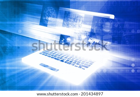 Technology Privacy Online and Digital Rights Art - stock photo