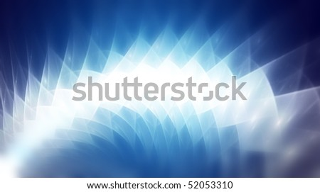 technology research, in blue abstract background - stock photo