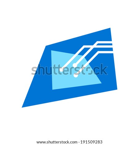 Technology sign Branding Identity Corporate logo design template Isolated on a white background - stock photo