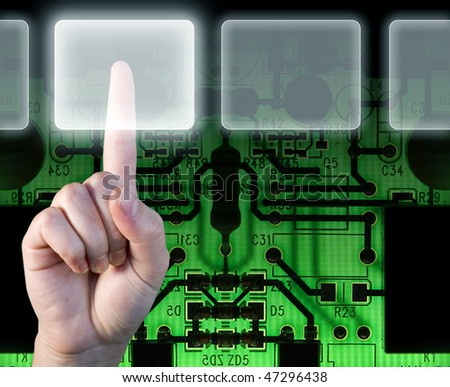 Technology touch - stock photo