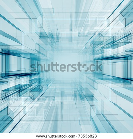 Technology tunnel - stock photo