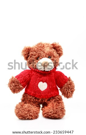 Teddy Bear on White Isolate. - stock photo