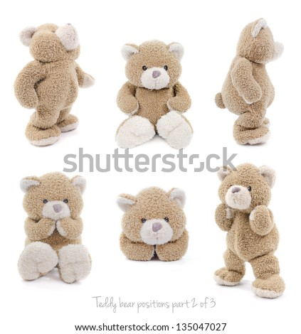 teddy bear set (2 of 3) - stock photo
