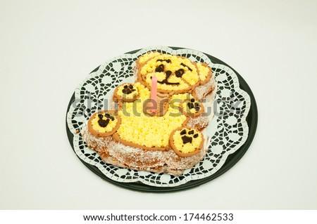 teddy cake - stock photo