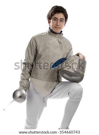 Teen Fencer     - stock photo