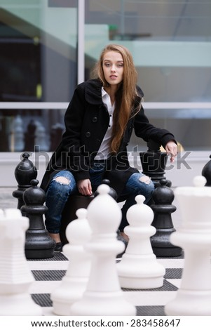Teen queen waiting for your turn - stock photo