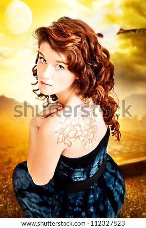 Teenage beauty - stock photo