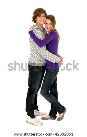 Teenage couple - stock photo