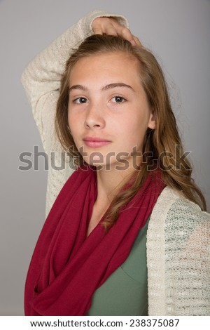 teenage girl - stock photo