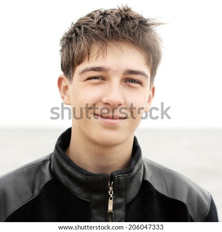 Teenager Portrait at the Seaside - stock photo