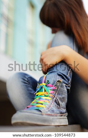 teenager problem - stock photo