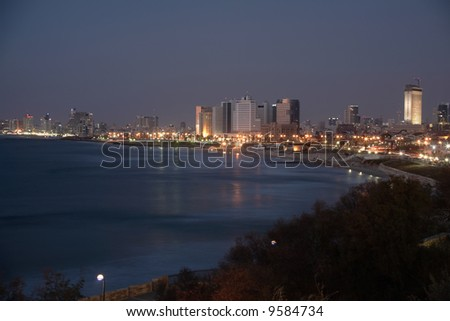 Tel Aviv - a view from Jaffa - stock photo