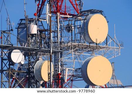 Telecommunication pollution concept - stock photo