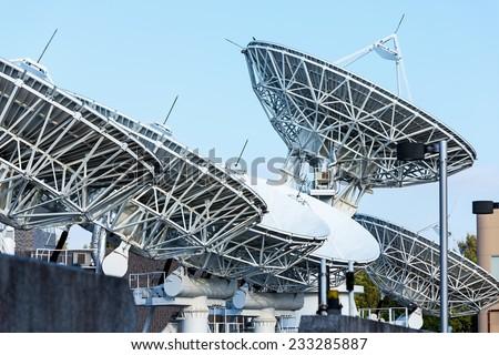 Telecommunication Satellites - stock photo