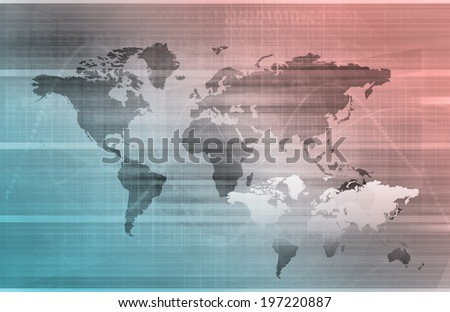 Telecommunications Network all over the World Art - stock photo