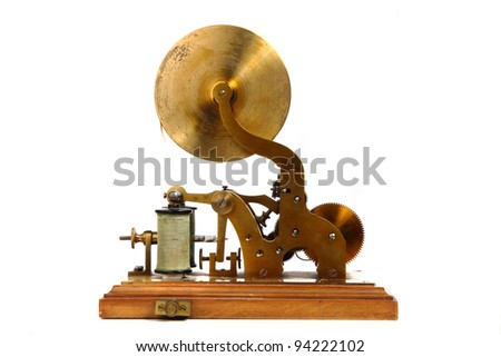telegraph isolated on the white background - stock photo