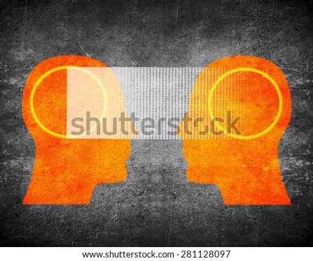 telepathy concept digital illustration - stock photo