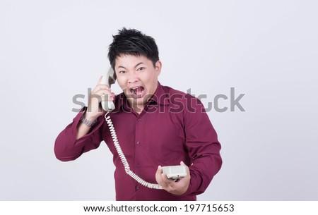 Telephone bankruptcy - stock photo
