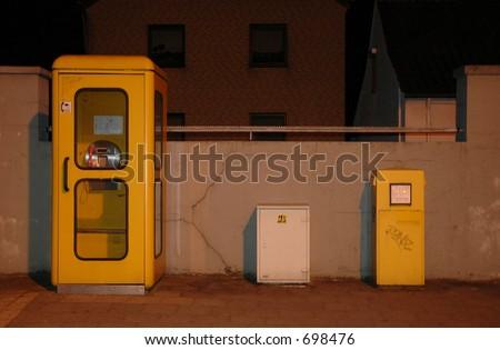 Telephone cabin - stock photo